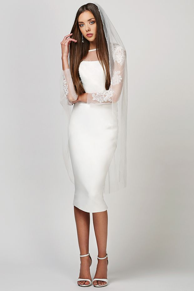 Fresh Raine and Ava from Love Found True wedding dresses White Dahlia Collection Simple and