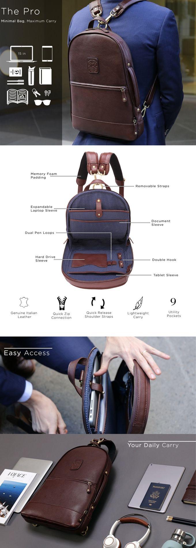 The world's most functional leather backpack! The perfect bag for every lifestyle. | Crowdfunding es una manera democrática de apoyar las necesidades de recaudación de fondos de tu comunidad. Haz una contribución hoy.