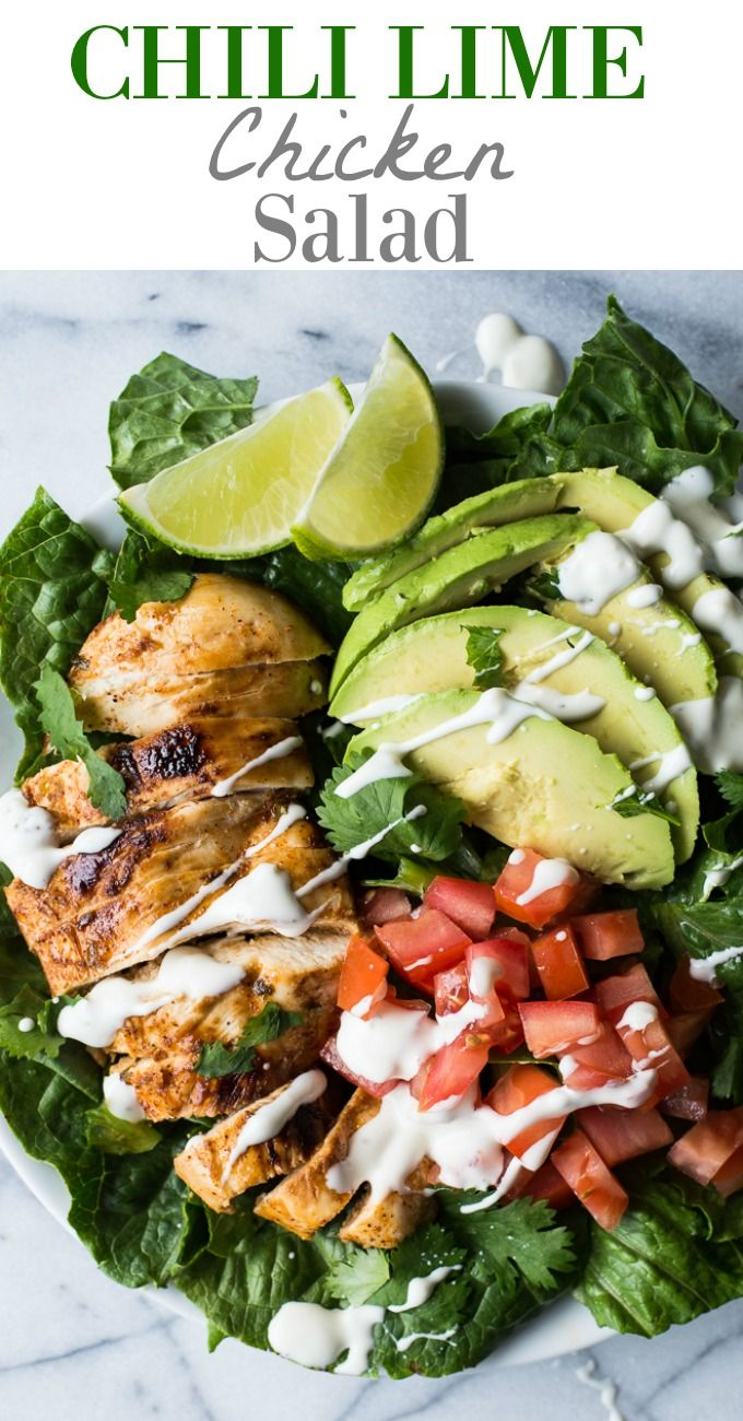 This tender, juicy, zesty chili lime chicken is perfect for topping your salad! This easy recipe takes just minutes to prepare! Perfect for a weeknight dinner!: