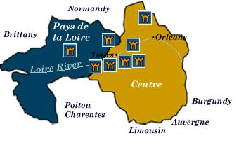 centre and pays de la loire map