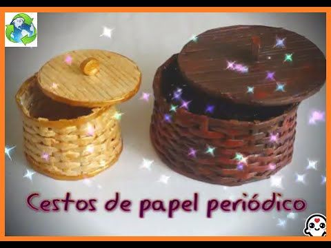 Cesto de papel periodico - YouTube