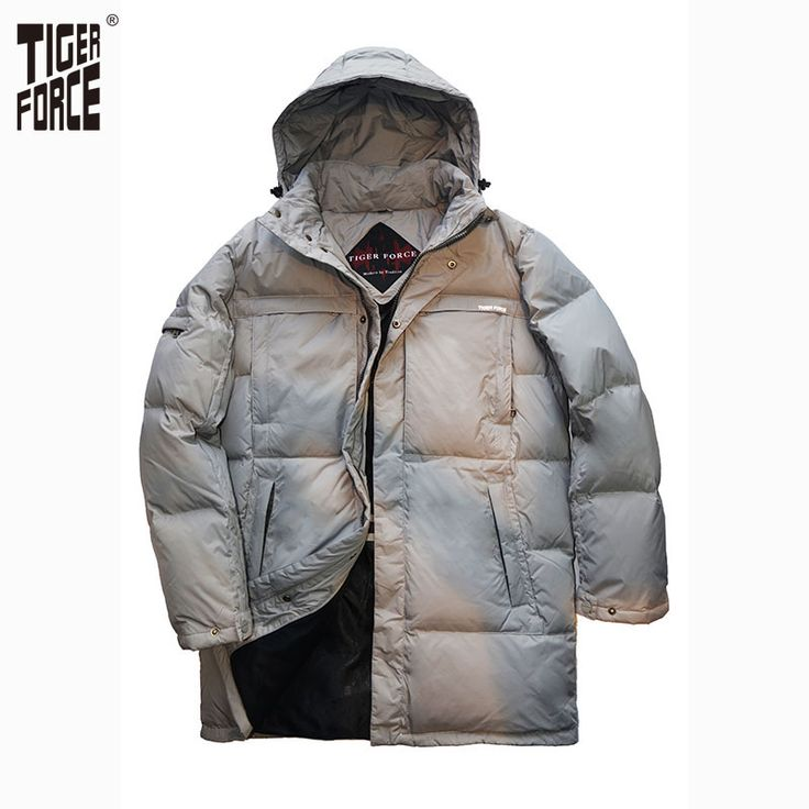 Find More Down Jackets Information about TIGER FORCE 2016 High Quality Men Fashion Long Down Jacket Winter Duck Down Coat With Hood Solid Zipper Free Shipping D 184L,High Quality zipper canvas tote bags,China mens boots zipper Suppliers, Cheap zipper wallets for men from TIGER FORCE on Aliexpress.com