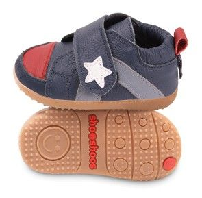 An adjustable Velcro strap and durable leather makes these baby shoes perfect for little dudes.