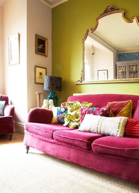 Die besten 25+ Rosafarbenes samtsofa Ideen auf Pinterest Samt - wohnzimmer deko pink