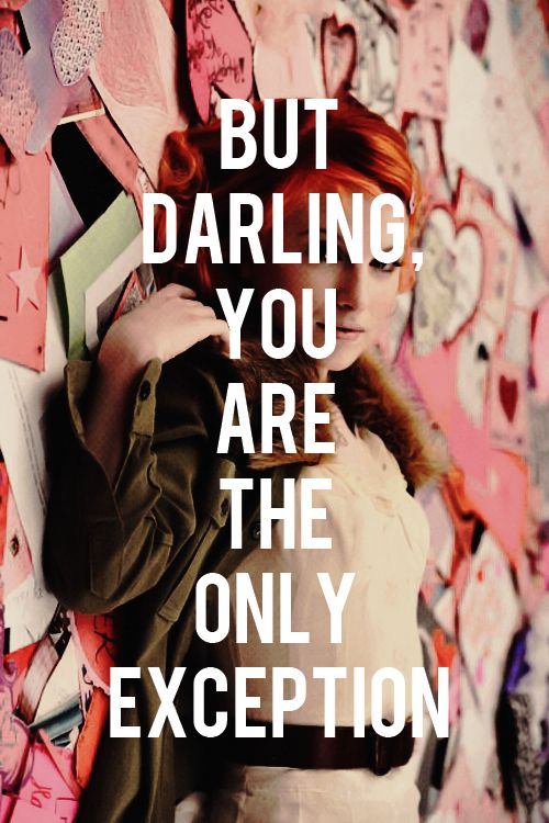 Top 25+ best Paramore quotes ideas on Pinterest | Paramore ... Paramore The Only Exception