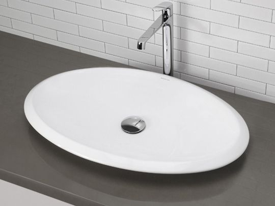 Bathroom, Master Bathroom Half Bathroom: Vitreous shallow vessel sink ...