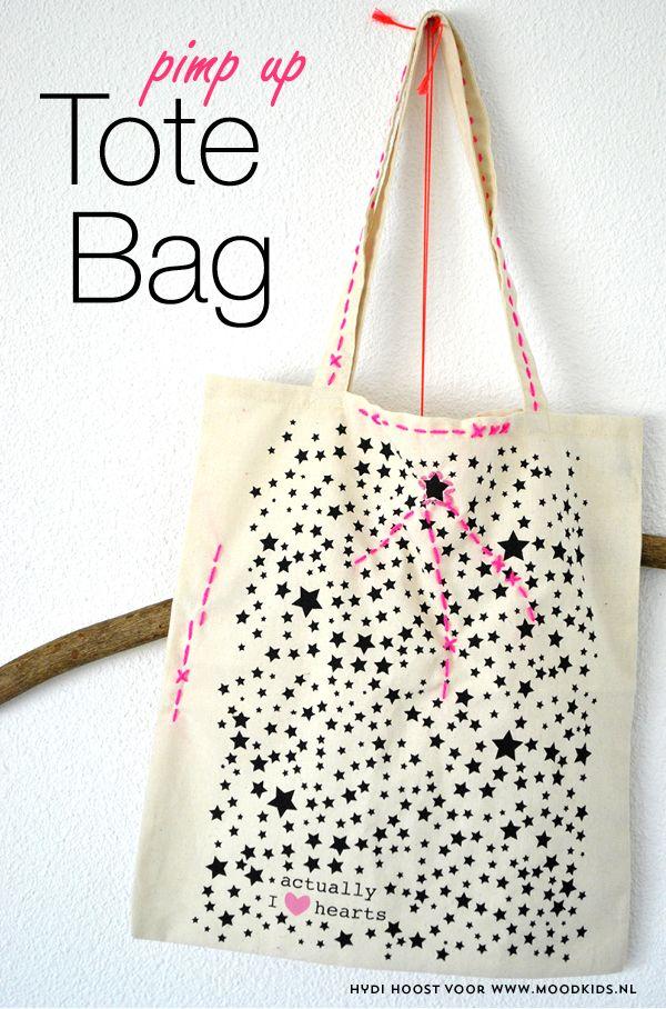 tas versieren, tasje versieren, tote bag pimpen, kinderfeestje, diy, doe het zelf