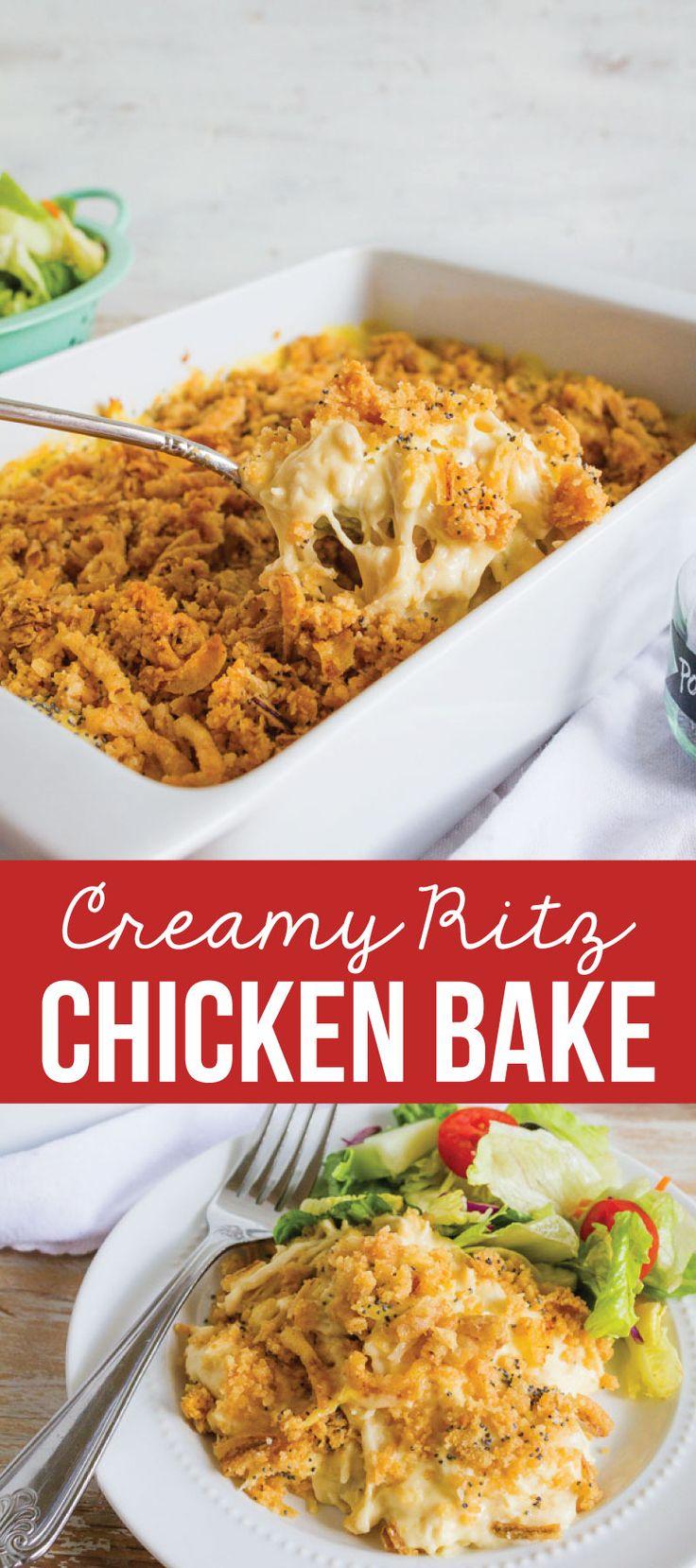 Creamy Ritz Chicken Bake