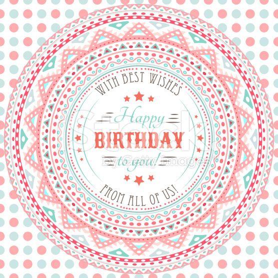 ヴィンテージ風!誕生日に送りたいイラスト