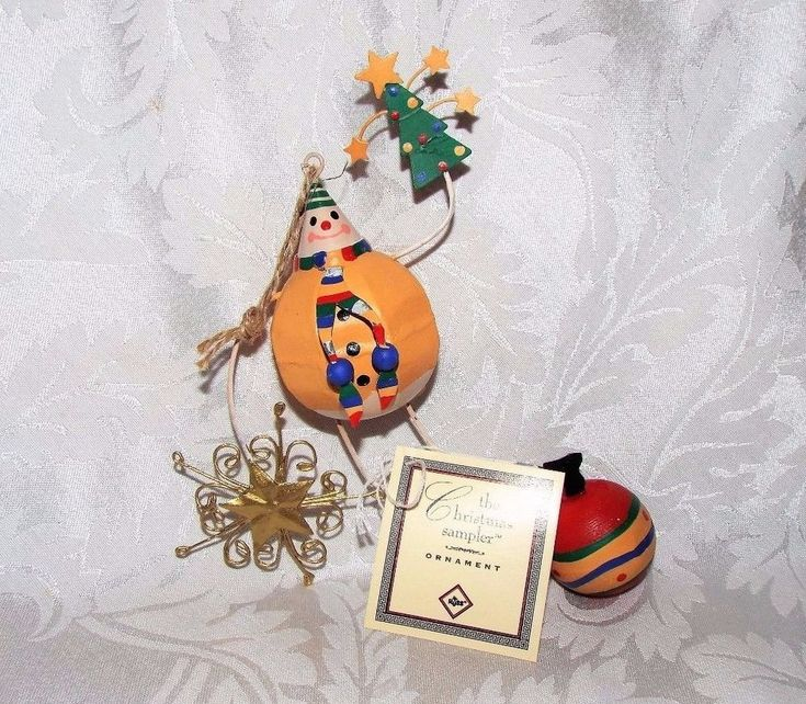 "RUSS The Christmas Sampler Humpty Dumpty like 7"" ht Wooden Tree Ornament #17279 #RUSSTheChristmasSamplerOrnament"
