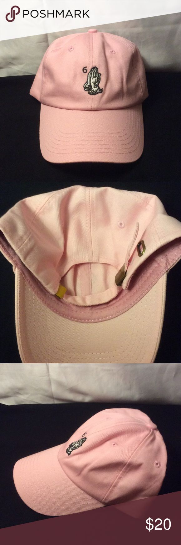 Drake Ovo 6 God prayer hands cap Drake Ovo prayer hands adjustable cap. Color is a light pink. Never worn! Unisex Accessories Hats