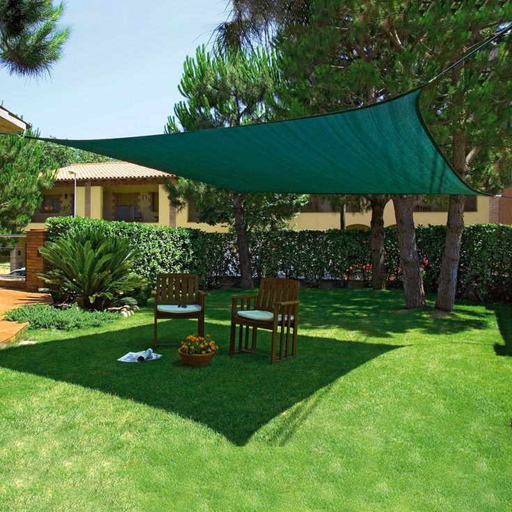 Vela giardino quadrata 3.60x3.60mt verde Sunnet Kit esterno 170822