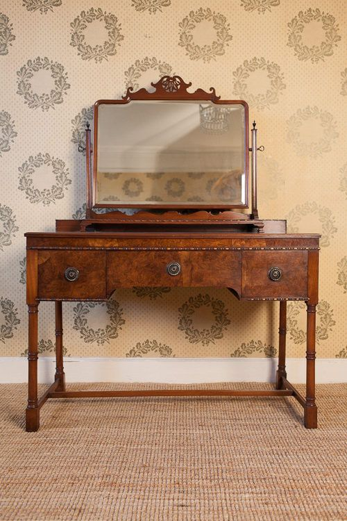 Antique Dressing Table 1930 1930s Quality Walnut