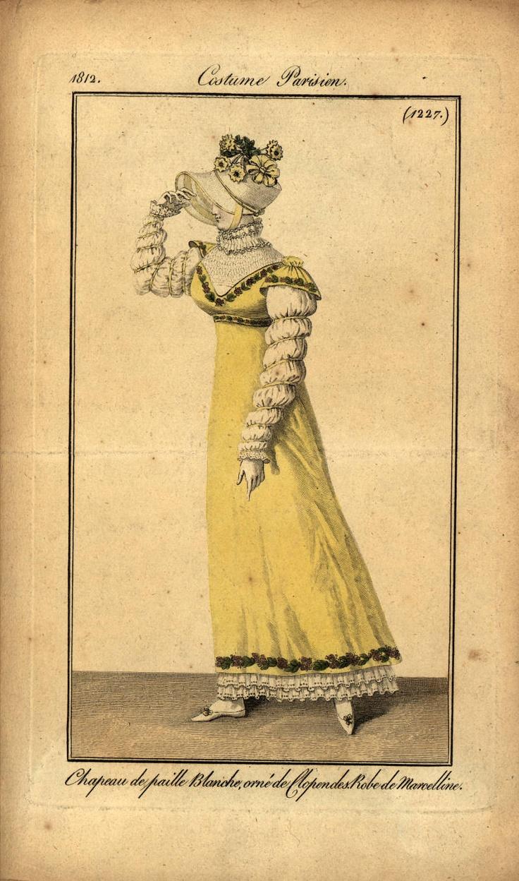 Regency fashion plate the secret dreamworld of a jane austen fan - 1812 Fashion Plate Costume Parisien Shows Smocking At Neck Site Has Instrucitons