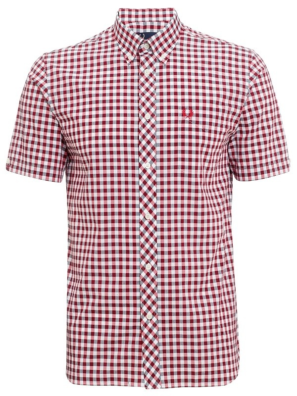 Fred Perry Short Sleeved Gingham Shirt