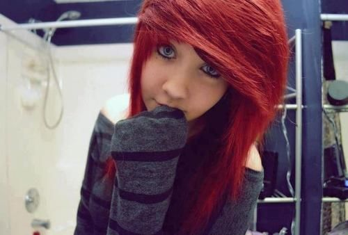 I want red hair!! It doesn't HAVE 2 be scene but I think girls with scene hair r really pretty :)