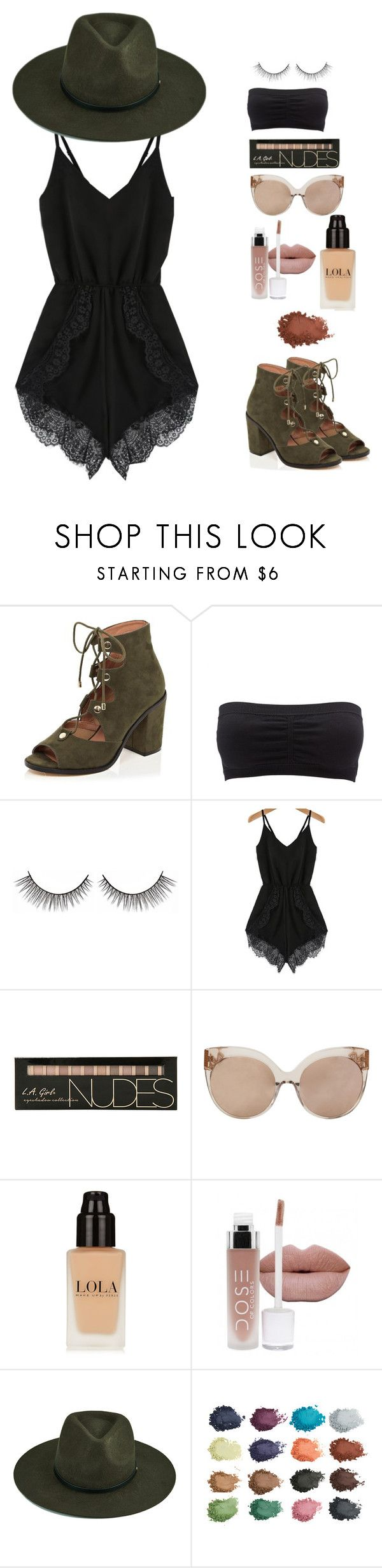 """cochella"" by pandadonuttwin ❤ liked on Polyvore featuring River Island, Charlotte Russe and Linda Farrow"