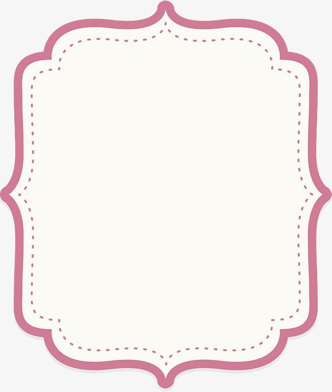 Pink Text Border Text Borders Free Clip Art Instagram Logo Transparent