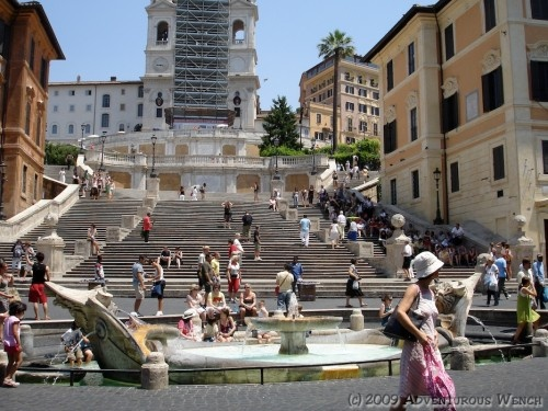The Spanish Steps in Rome.  Been there.