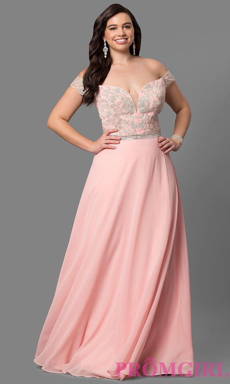 Long Illusion Plus-Size Prom Dress with Racerback | style ...