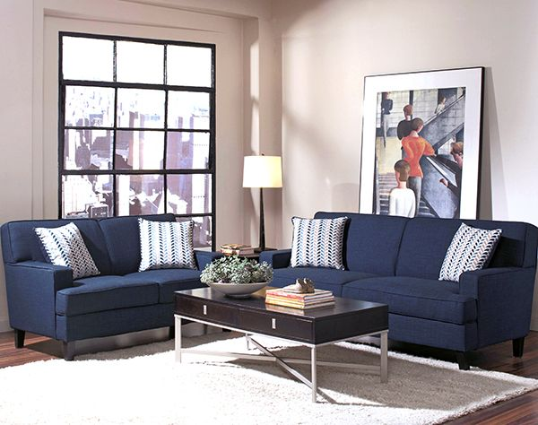 Finley Blue Sofa & Loveseat $1200 | Hotel Surplus