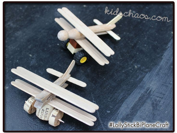 Keep hold of your Popsicle sticks! you need five for each of these peg planes... easy!