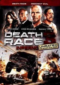 Death Race 3: Inferno--RELEASE DATE: JANUARY 22, 2013--Convicted cop-killer Carl Lucas, aka Frankenstein, is a superstar driver in the brutal prison yard demolition derby known as Death Race. Only one victory away from winning freedom for himself and his pit crew, Lucas is plunged into an all-new competition more vicious than anything he has experienced before.