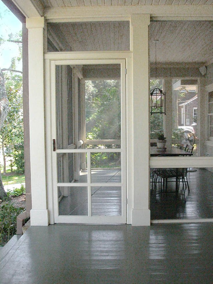 Love the molding .Screen Door / screen porch.  For my back porch , might just do this