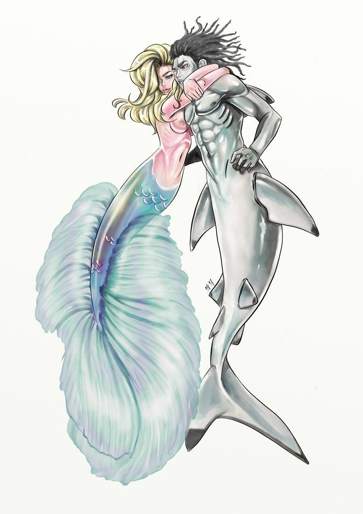 Forbidden Love #mermay #mermaid #merman #shark #betta