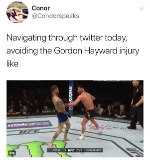 Top 10 Gordon Hayward Memes - Leg Injury Broken Ankle  Gordon Hayward memes are presented in this article. The Boston Celtics forward suffered a gruesome injury during the first game of the 2017-18 NBA season. Fans were excited to see Kyrie Irving's first game back in Cleveland since being traded to Boston. Hayward's injury reminds us how dangerous basketball can be.  Kobe Bryant sent Hayward some words of encouragement advising him to adopt a #MambaMentality. Bryant can definitely relate to…