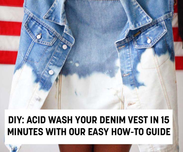 DIY For Guys And Girls: Acid Wash Denim Vest In 15 Minutes