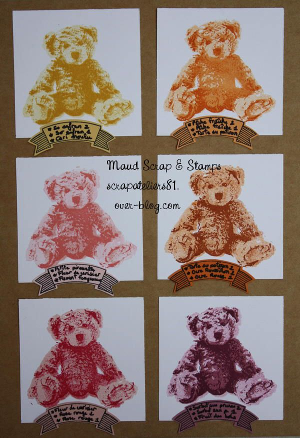 set bébé Ourson p 61 du catalogue Stampin' Up ! #bebeourson #stampinup #babybear