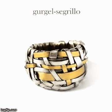 wedding ring in silver and gold, by gurgel-segrillo