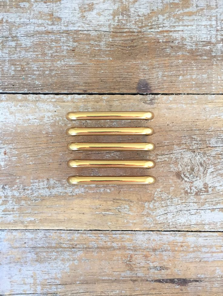 Drawer Handles 5 Drawer Pulls Mid Century Hardware Brass Drawer Pull Brass Handle Dresser Handles Cabinet Door Pulls Home Improvement by TheDustyOldShack on Etsy