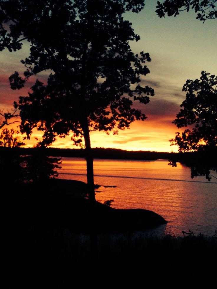 Solnedgång över Skärgården...