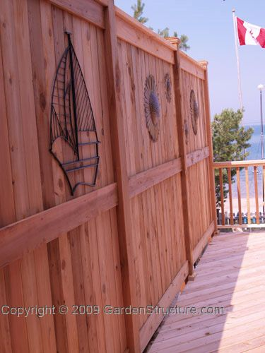 24 best fence and retaining wall ideas images on pinterest for Cheap tall privacy fence