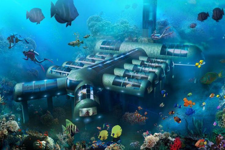 O primeiro hotel subaquático do mundo deverá ser instalado no fundo do mar em Key West (Flórida).