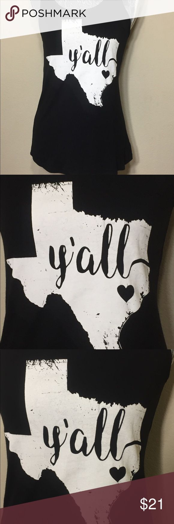 Texas 💜 Y'all State Represent Rayon/Spandex Tank For all the Texas love! Comes in Small/Medium/Large. Tops Tank Tops
