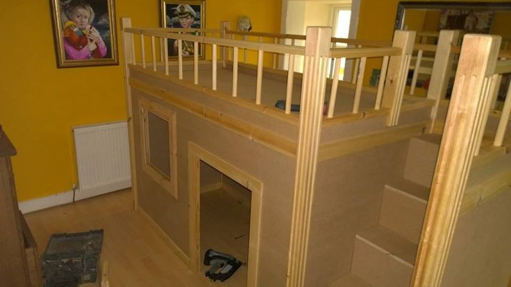 Making a bunk bed / play bed for a little girl by PLP Woodworks