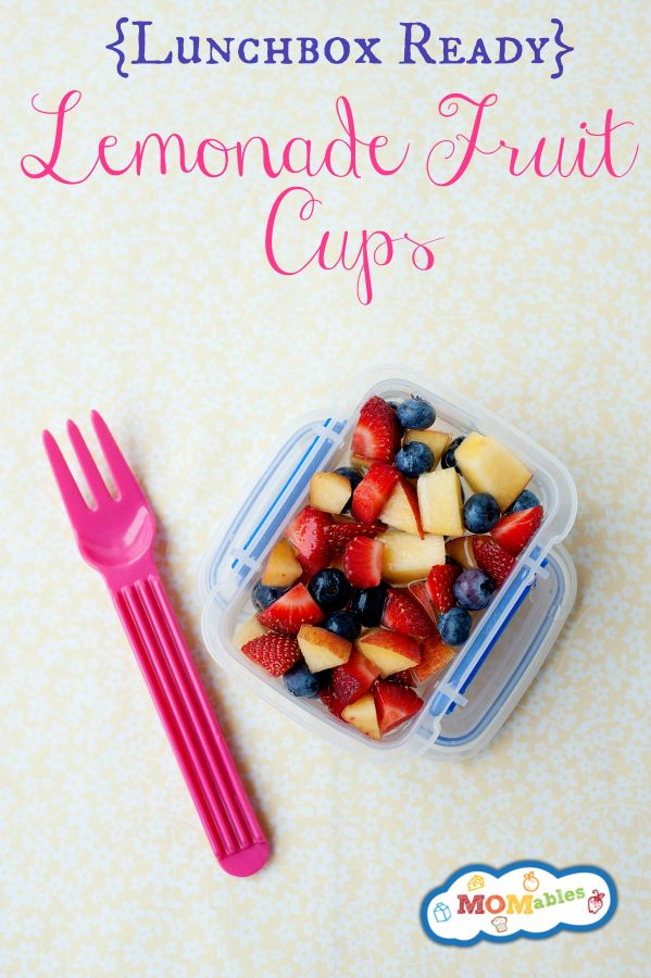 Have you ever wished those store bought fruit cups were made with fresh fruit?