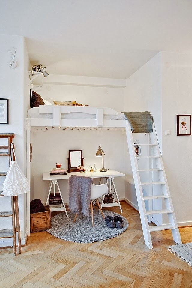 Фотография: Спальня в стиле Скандинавский, Малогабаритная квартира, Квартира…