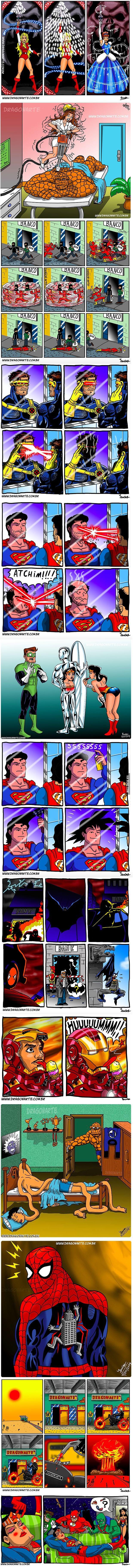 así se vive y se divierten los superhéroes