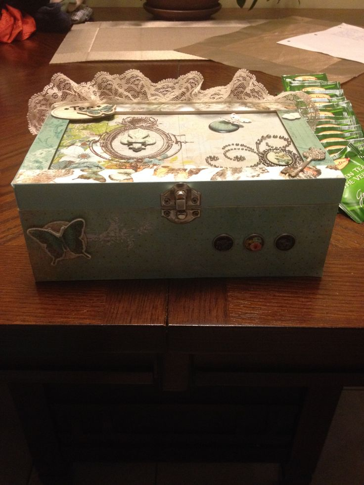 Altered Tea Box - Front