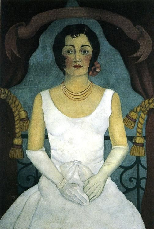 Portrait of a Woman in White, Frida Kahlo