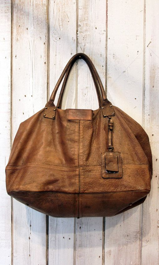 Handmade Italian Vintage Brown Leather by LaSellerieLimited