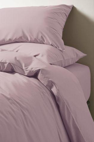 Mauve Cotton Rich Plain Dye Bed Set