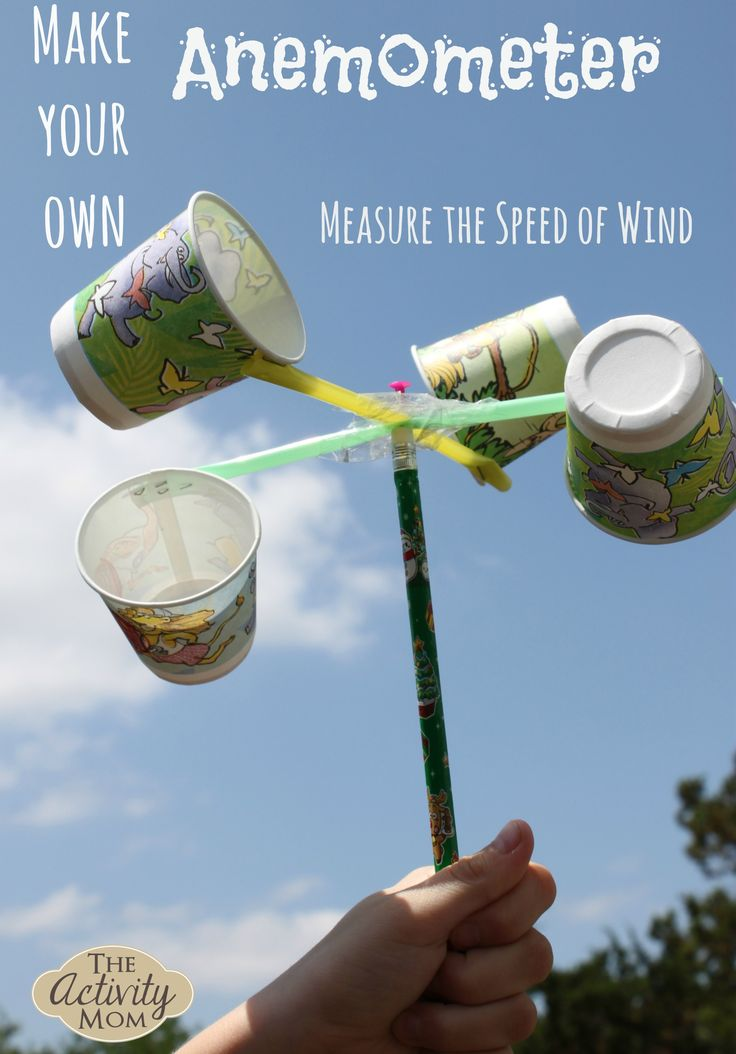 Anemometer activity to measure wind speed - The Activity Mom