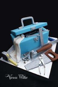 Tradesman tool box cake