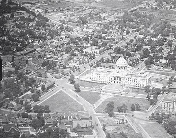1930 aerial view.  MNHS