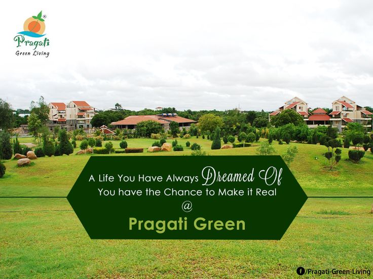 Get your Dream #House with all the necessary amenities at Pragati Green Living​. Book a site visit now. http://www.pragatigreenliving.com/book-a-free-site-visit.php